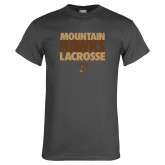 Charcoal T Shirt-Mountain Hawks Lacrosse