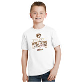 Youth White T Shirt-2020 Wrestling Champs