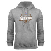 Grey Fleece Hoodie-2017 Patriot League Softball Champions