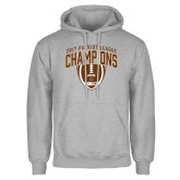 Grey Fleece Hoodie-2017 Patriot League Football Champions 2
