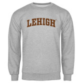 Grey Fleece Crew-Arched Lehigh