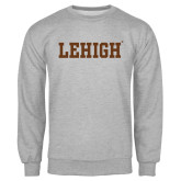 Grey Fleece Crew-Flat Lehigh