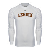 Under Armour White Long Sleeve Tech Tee-Arched Lehigh