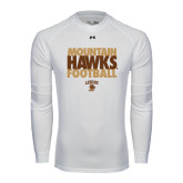Under Armour White Long Sleeve Tech Tee-Mountain Hawks Football
