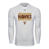 Under Armour White Long Sleeve Tech Tee-Mountain Hawks Basketball