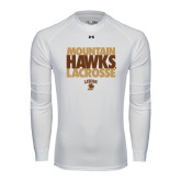 Under Armour White Long Sleeve Tech Tee-Mountain Hawks Lacrosse