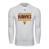 Under Armour White Long Sleeve Tech Tee-Mountain Hawks Baseball