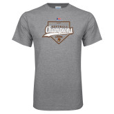 Grey T Shirt-2017 Patriot League Softball Champions