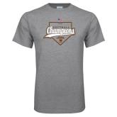 Grey T Shirt-2017 Patriot League Softball Champions