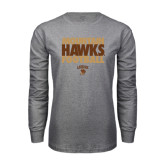 Grey Long Sleeve T Shirt-Mountain Hawks Football