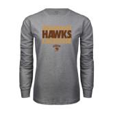 Grey Long Sleeve T Shirt-Mountain Hawks Lacrosse