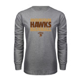 Grey Long Sleeve T Shirt-Mountain Hawks Baseball