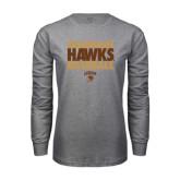 Grey Long Sleeve T Shirt-Mountain Hawks Baseball