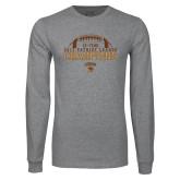 Grey Long Sleeve T Shirt-2017 Patriot League Football Champions 4