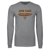 Grey Long Sleeve T Shirt-2018 EIWA Wrestling Champions