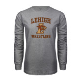Grey Long Sleeve T Shirt-Wrestling