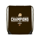 Brown Drawstring Backpack-2017 Patriot League Football Champions