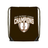 Brown Drawstring Backpack-2017 Patriot League Football Champions 2