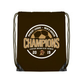 Brown Drawstring Backpack-2019 Mens Soccer Champions