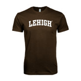 Next Level SoftStyle Brown T Shirt-Arched Lehigh