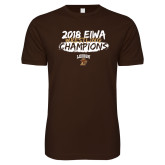 Next Level SoftStyle Brown T Shirt-2018 EIWA Wrestling Champions