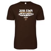 Next Level SoftStyle Brown T Shirt-2018 EIWA Wrestling Champions