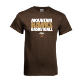 Brown T Shirt-Mountain Hawks Basketball