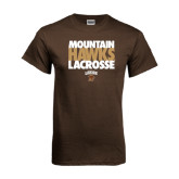 Brown T Shirt-Mountain Hawks Lacrosse