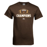 Brown T Shirt-11-Time Patriot League Champions Football 2016