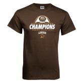 Brown T Shirt-Patriot League Champions Womens Soccer 2016