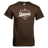 Brown T Shirt-2017 Patriot League Softball Champions