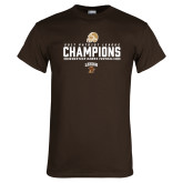 Brown T Shirt-2017 Patriot League Football Champions