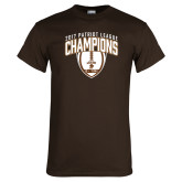 Brown T Shirt-2017 Patriot League Football Champions 2