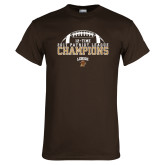 Brown T Shirt-2017 Patriot League Football Champions 4