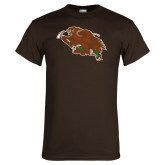 Brown T Shirt-Running Hawk