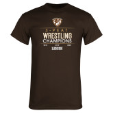 Brown T Shirt-2020 Wrestling Champs