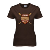 Ladies Brown T Shirt-2016 Baseball Champions