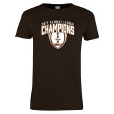 Ladies Brown T Shirt-2017 Patriot League Football Champions 2