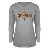 Ladies Syntrel Performance Platinum Longsleeve Shirt-2017 Patriot League Football Champions