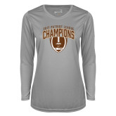 Ladies Syntrel Performance Platinum Longsleeve Shirt-2017 Patriot League Football Champions 2