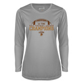 Ladies Syntrel Performance Platinum Longsleeve Shirt-2017 Patriot League Football Champions 4