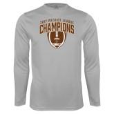 Performance Platinum Longsleeve Shirt-2017 Patriot League Football Champions 2