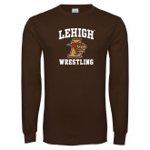 Brown Long Sleeve TShirt-Wrestling