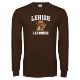 Brown Long Sleeve TShirt-Lacrosse