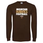 Brown Long Sleeve TShirt-Mountain Hawks Football