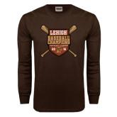 Brown Long Sleeve TShirt-2016 Baseball Champions
