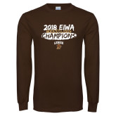 Brown Long Sleeve T Shirt-2018 EIWA Wrestling Champions
