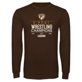 Brown Long Sleeve T Shirt-2020 Wrestling Champs