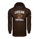 Under Armour Brown Performance Sweats Team Hoodie-Football