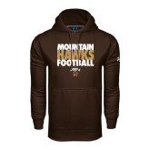 Under Armour Brown Performance Sweats Team Hoodie-Mountain Hawks Football